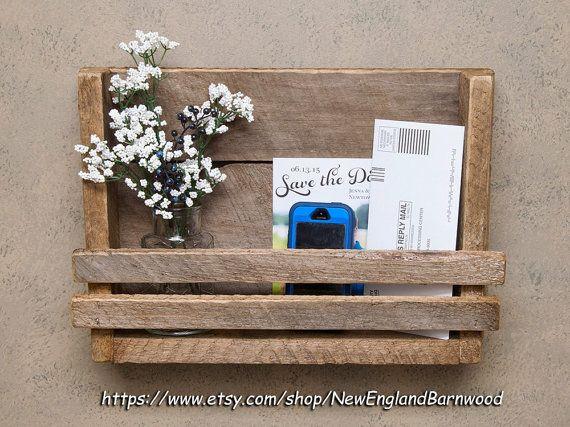 MAIL ORGANIZER -Handmade, Letter Holder,Mail Holder, Mail Organizer,message board,mail rack,mail holder