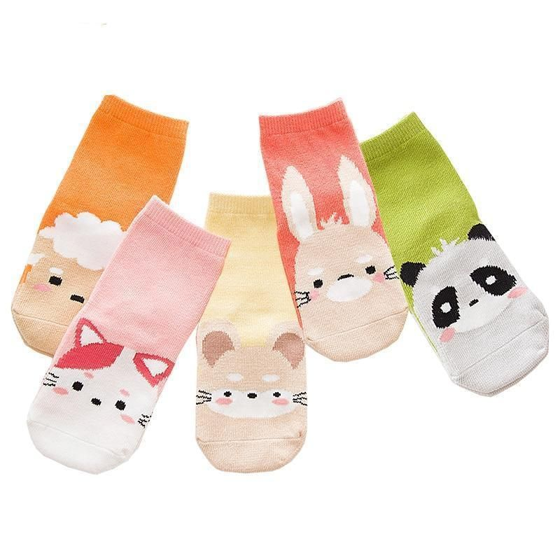 fc13b6eae4b 5 Pair/lot Kawaii Pattern Cotton Kids Socks #fashion #clothing ...
