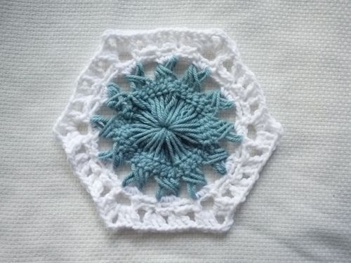 Sunburst Hexagon Crochet Motif Pattern Speckless Pinterest
