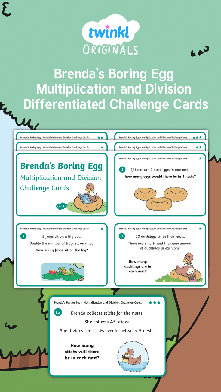Use these lovely multiplication and division cards to develop the ...