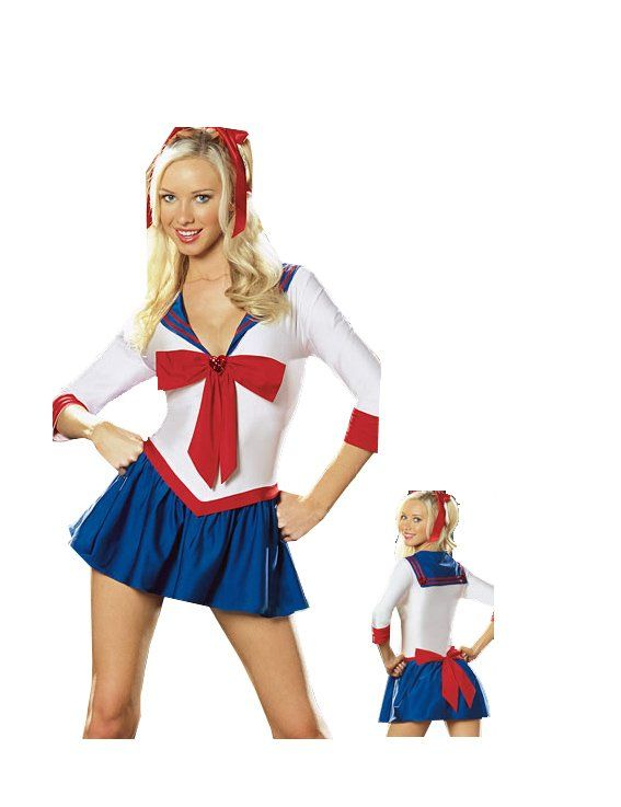 051476351f9 Sexy White & Blue Sailor Moon Costume Photo, Detailed about Sexy ...