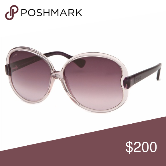 b61d3a88b70c3 NWB Tod s Round Clear Sunglasses TO04-59Z-60 Adorable purple Sunglasses. Authentic  Tod s. New with box. Tod s Accessories Sunglasses
