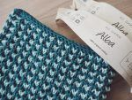 Photo of Knitted crochet cloth in bi-pattern