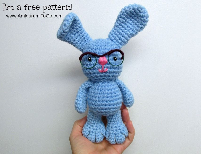 Amigurumi To Go Tutorial : Amigurumi bunny with glasses free crochet pattern
