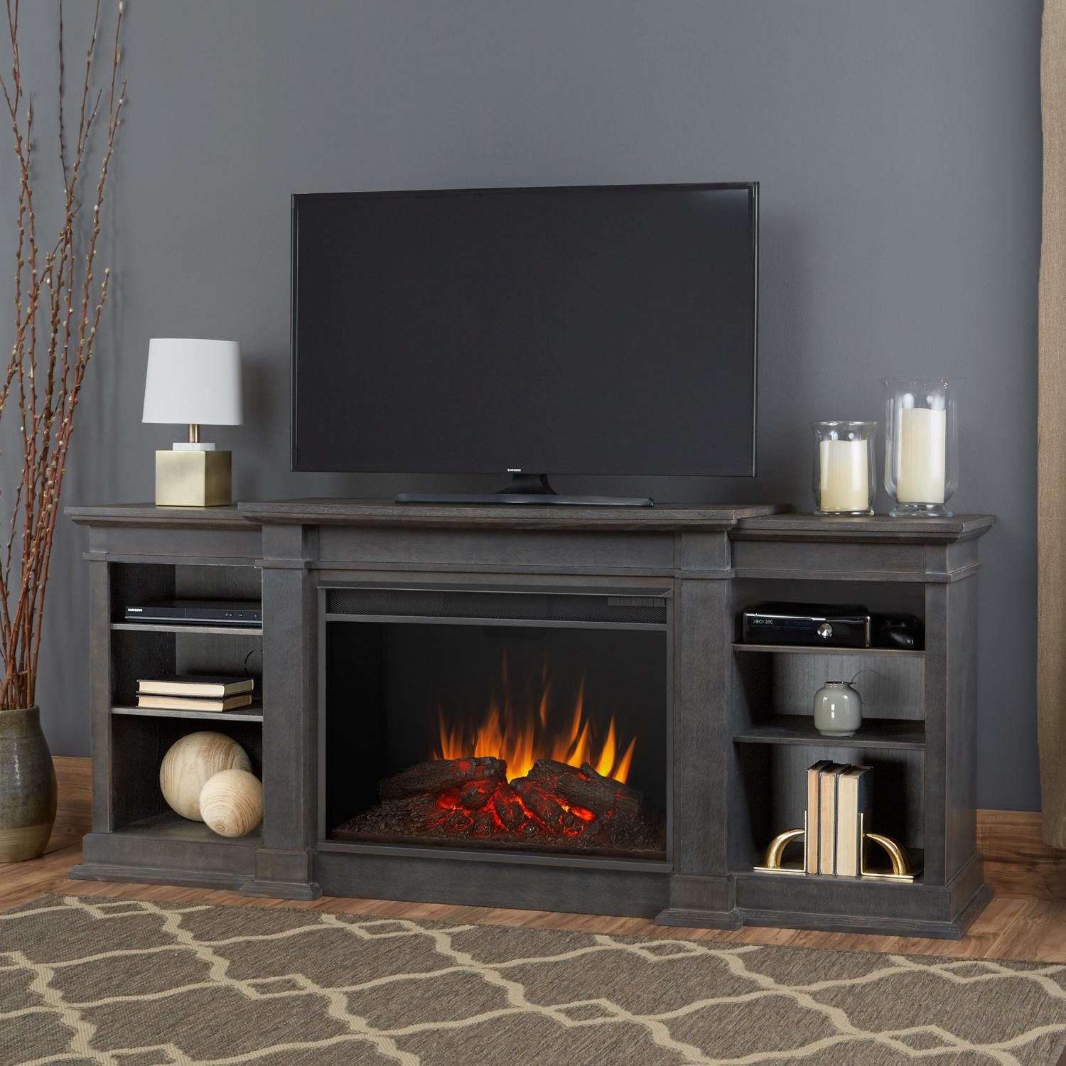 Real Flame 1290e Agr Eliot Grand 81 Inch Electric Fireplace