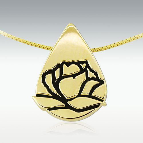 Memorial Tear 10k Gold Pendant Gold Pendant 10k Gold Pendant