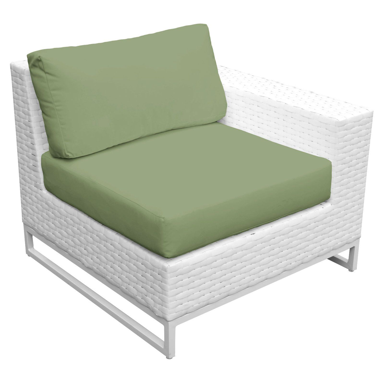 Tk Classics Miami Outdoor Arm Sofa Set Of 2 Cilantro
