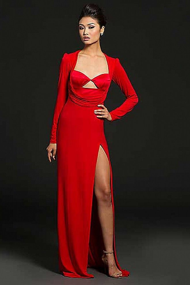 Long Sleeve Red Dress 21461 | dresses | Pinterest | Red gowns ...