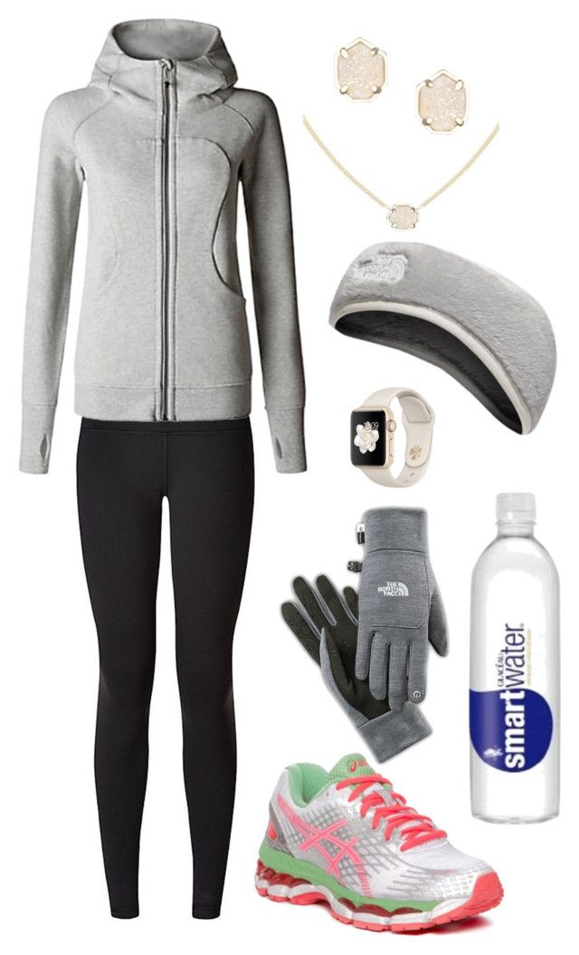 """""""Colorado run"""" by gracerickman on Polyvore featuring lululemon, Kendra Scott and The North Face"""