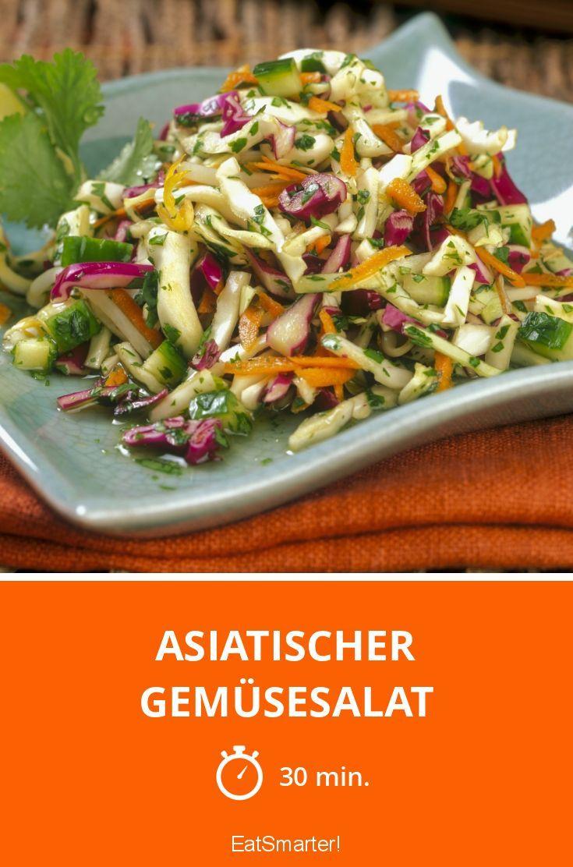 Asiatischer Gemüsesalat   Rezept   Salaten   Salat, Gemüsesalat und ...