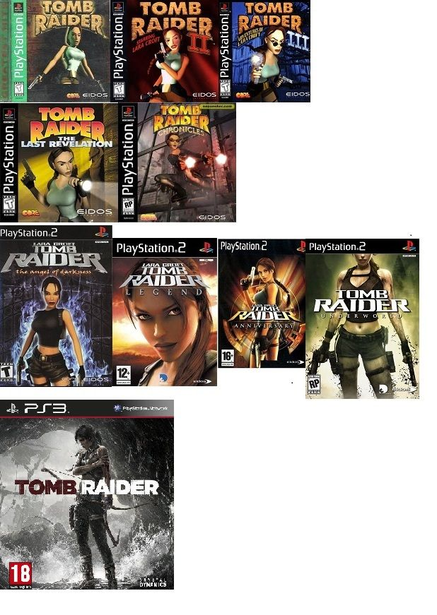 all the tomb raider games, from ps1,ps2, and the news ps3 ...