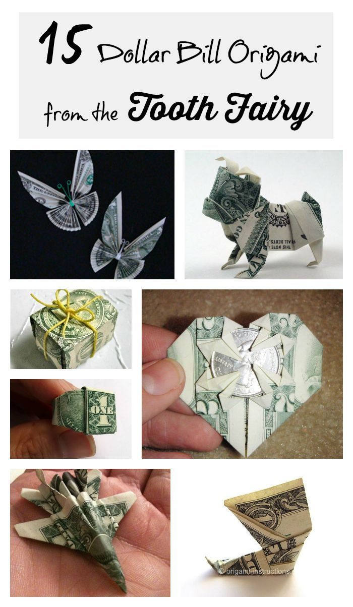 Tooth fairy origami paper flowers pinterest tooth fairy tooth fairy origami dollar origamieasy jeuxipadfo Image collections