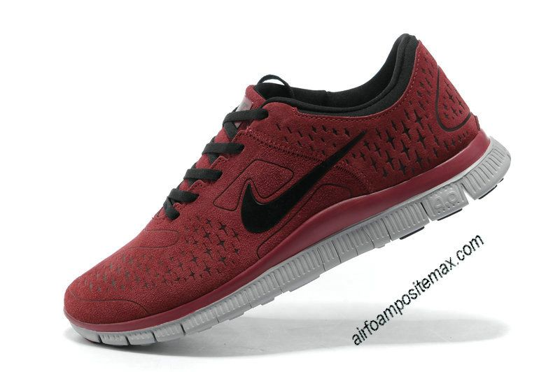 Nike Free 4.0 V2 Suede Cym Red black