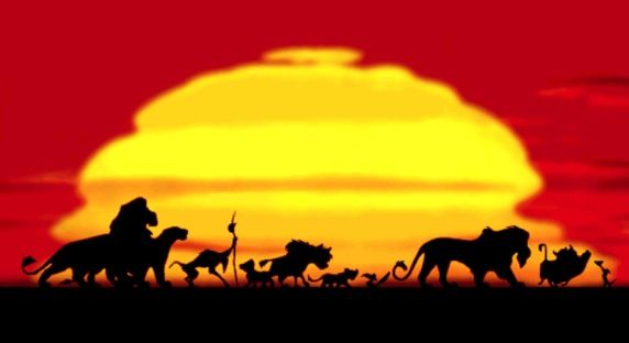 Lion King Sunset I Just Noticed That The Black Shapes Were