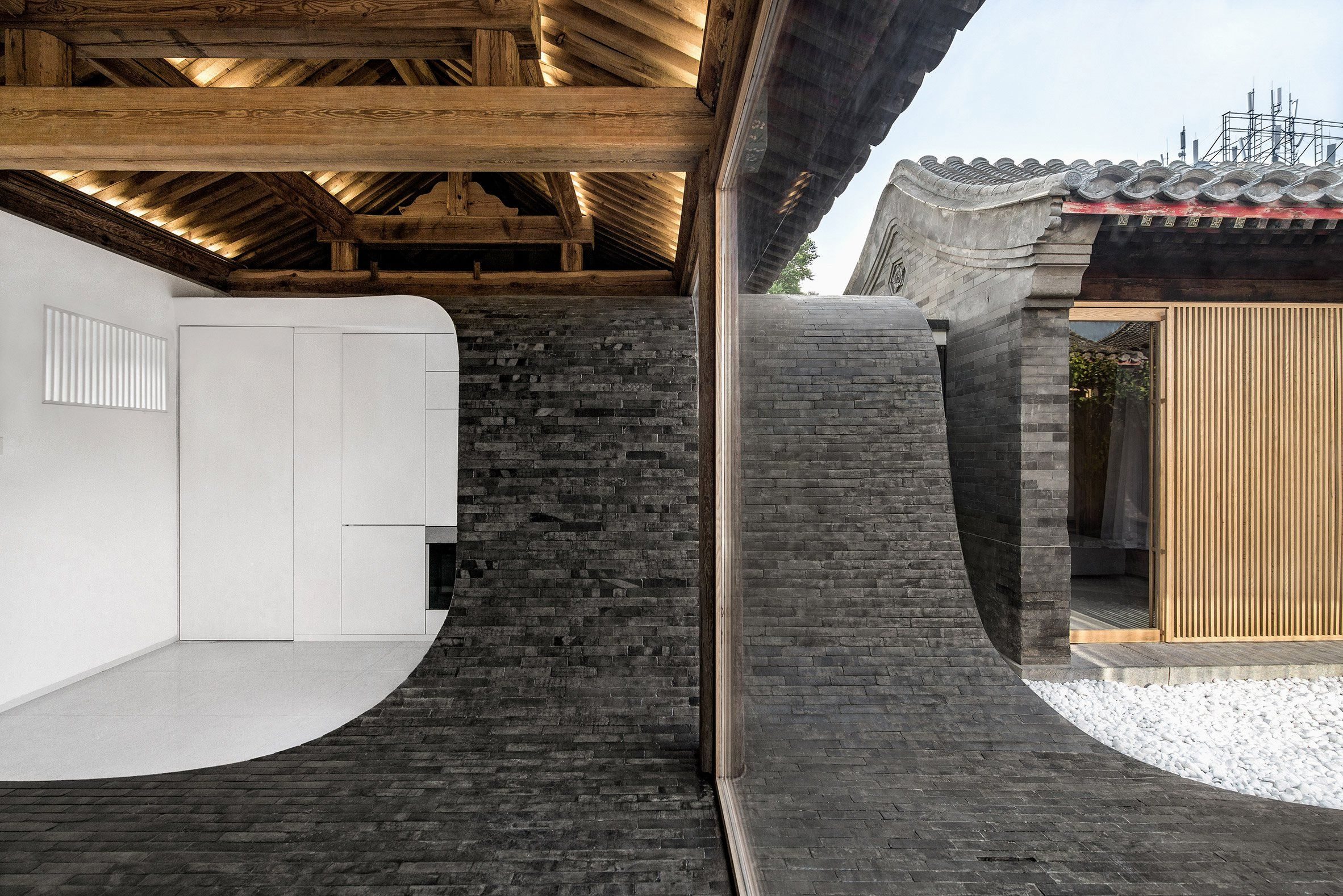 New Bardage Bois Point P Chinese Courtyard Chinese Architecture Courtyard House