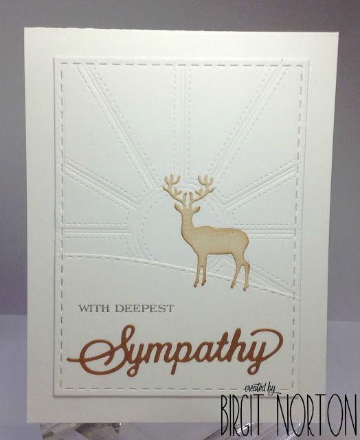 Dies R Us: Masculine Sympathy Card