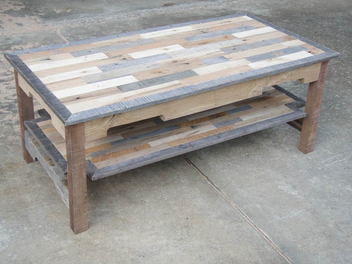 Pallet wood coffee table series knotthead nate custom pallet wood coffee table series knotthead nate custom woodworking geotapseo Gallery
