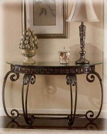 Entrance Tables Furniture amazon : tullio brown cherry finish sofa table : console