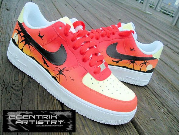"Ecentrik Artistry ""Summer Love Collection"" Custom Nike Shoes"