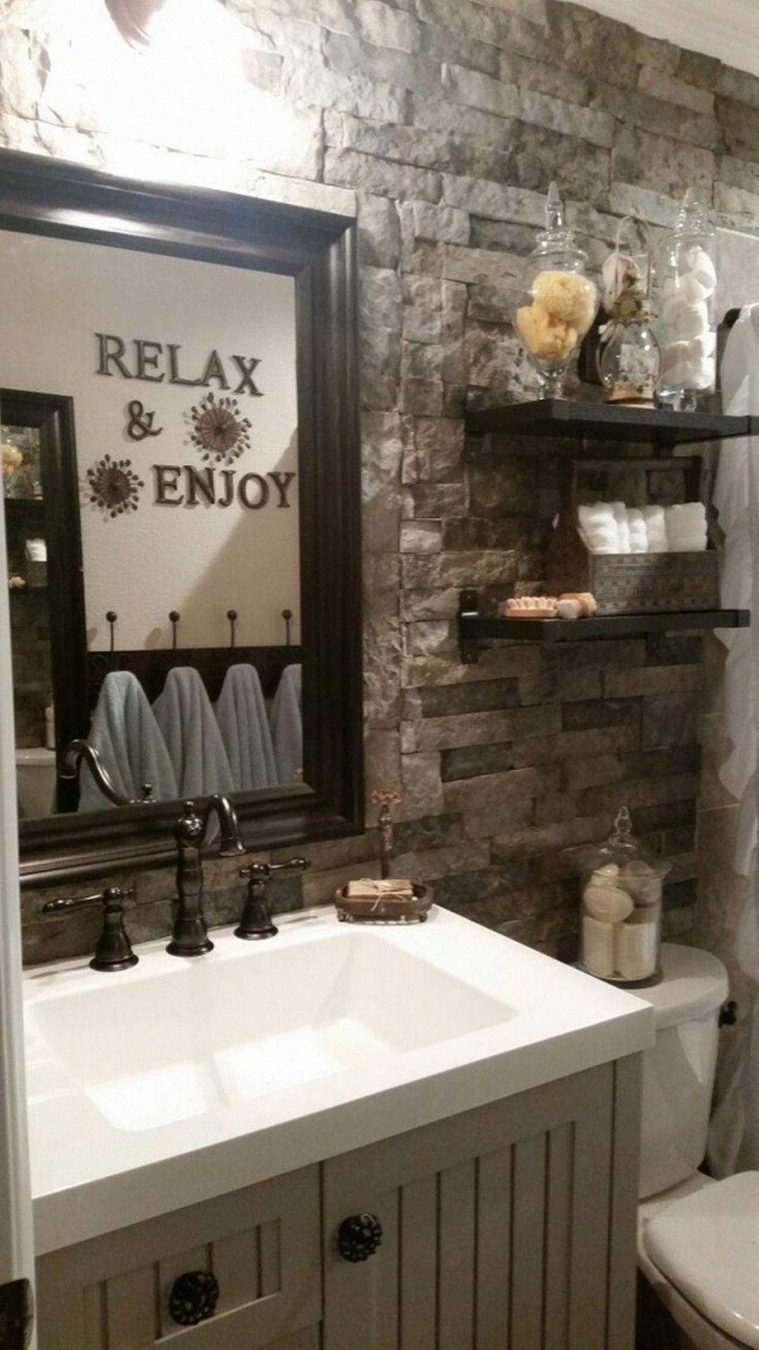 25 Inspiring and Enchanting Rustic Bathroom Decor Ideas ...