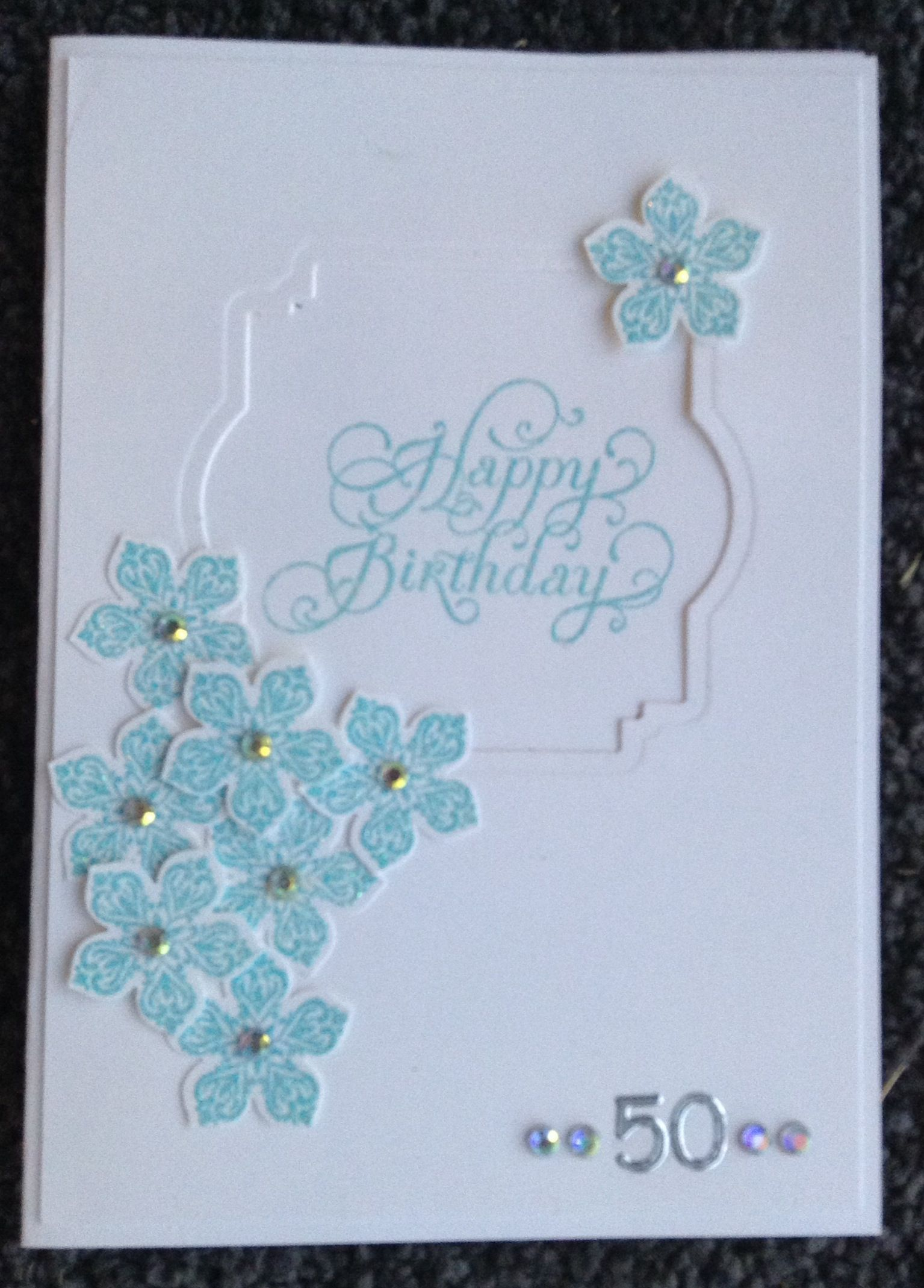 Petite petals rf th birthday female birthday cards