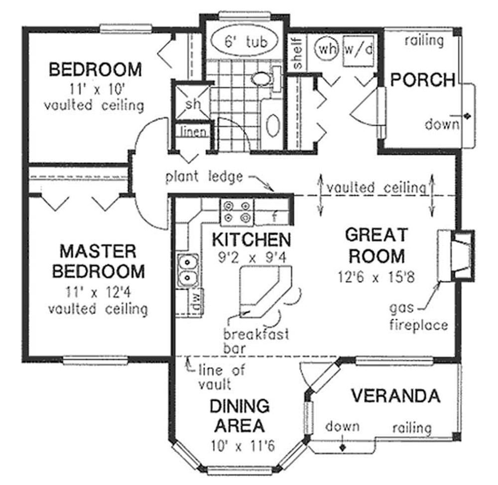 Houseplans with 2 master bedrooms   Main Elevation for ms  Cottages and homes  Pinterest
