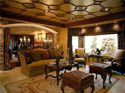 Living Room Italian Villa | Custom Drapes | Pinterest | Home