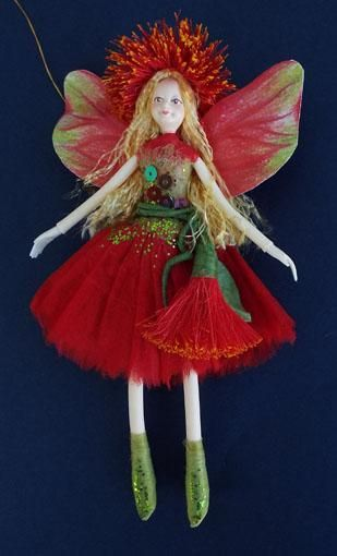 Nz Christmas Pohutukawa Summer Fairy Doll From Shopnz Com Fairy Dolls Summer Fairy Fairy Parties