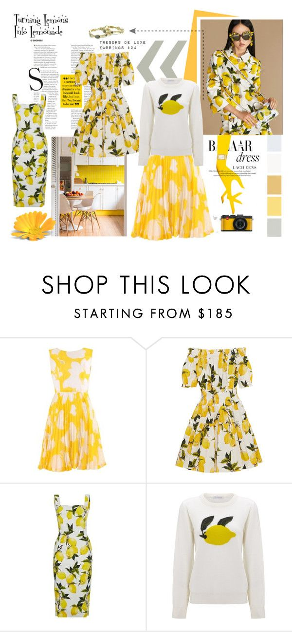 """Turning Lemons Into Lemonade #spring #tresorsdeluxe #tresorsdeluxejewelry #optimism"" by tresorsdeluxe ❤ liked on Polyvore featuring Dolce&Gabbana, J.W. Anderson and CO"