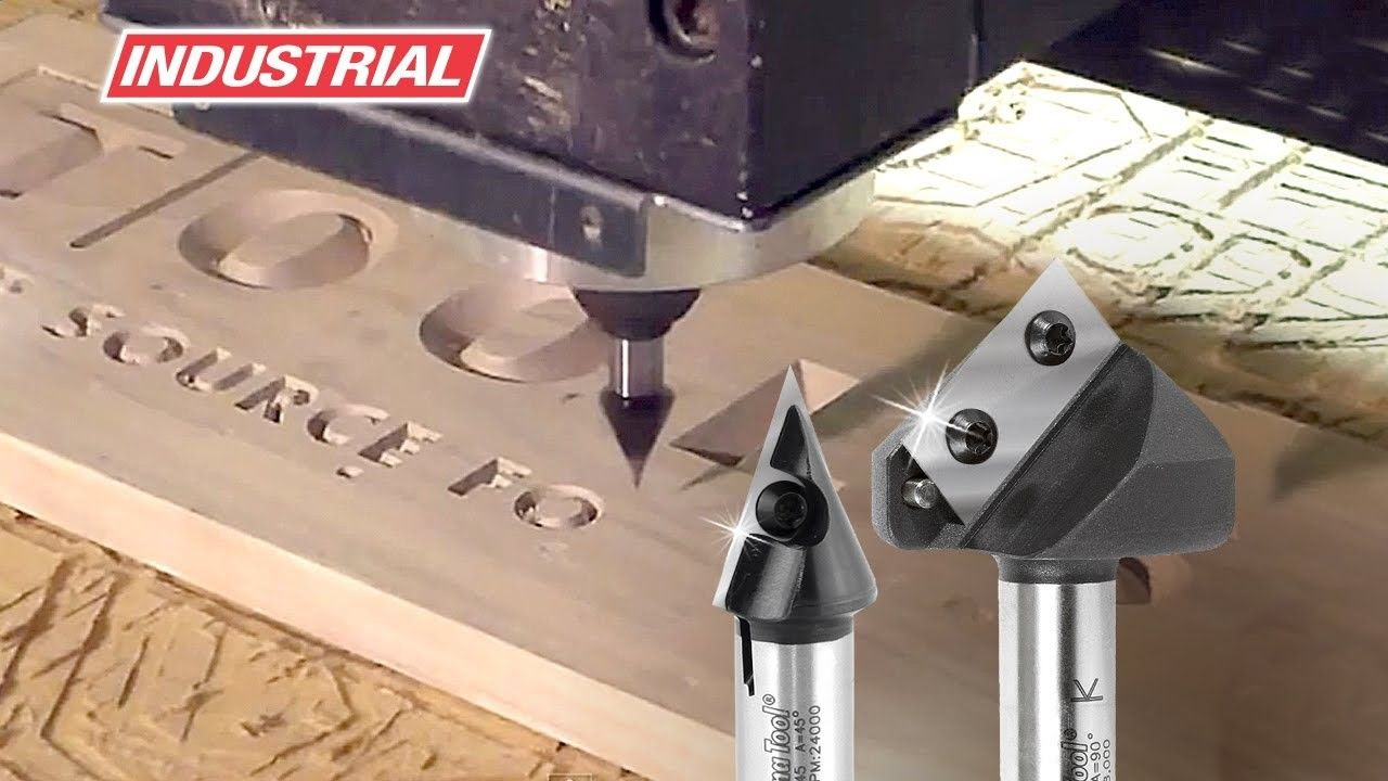 Solid Carbide Insert V Groove Router Bits By Amana Tool Used In Cnc