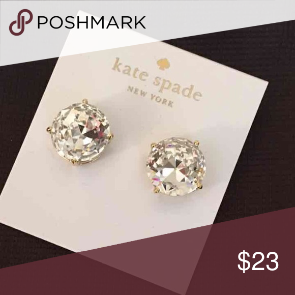 Kate Spade Earrings New Kate Spade Earrings   Color: Clear/Gold Plated  New with tags  PRICE IS FIRM   No trades. kate spade Jewelry Earrings