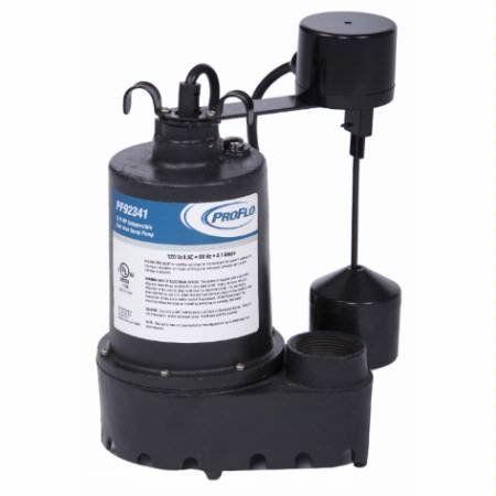 ProFlo PF92341 3/10 HP Cast Iron Submersible Sump Pump with Vertical Switch Pumps Sump Pumps Submersible