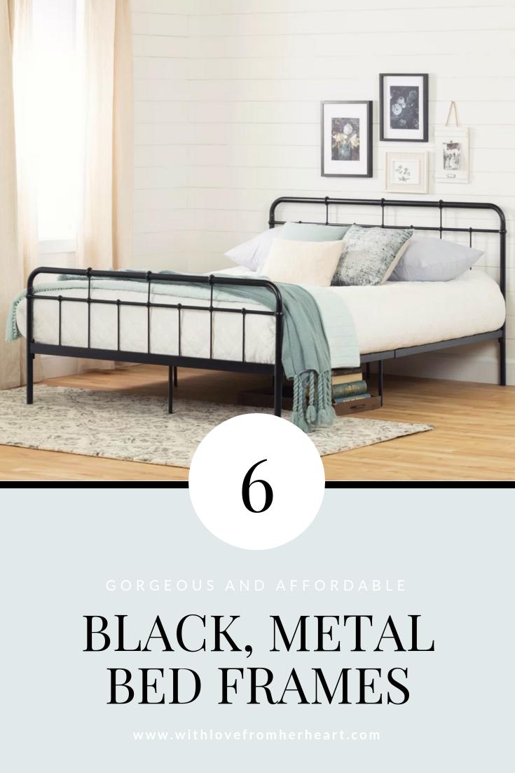 Best Affordable Black Metal Bed Frames With Images Black 400 x 300