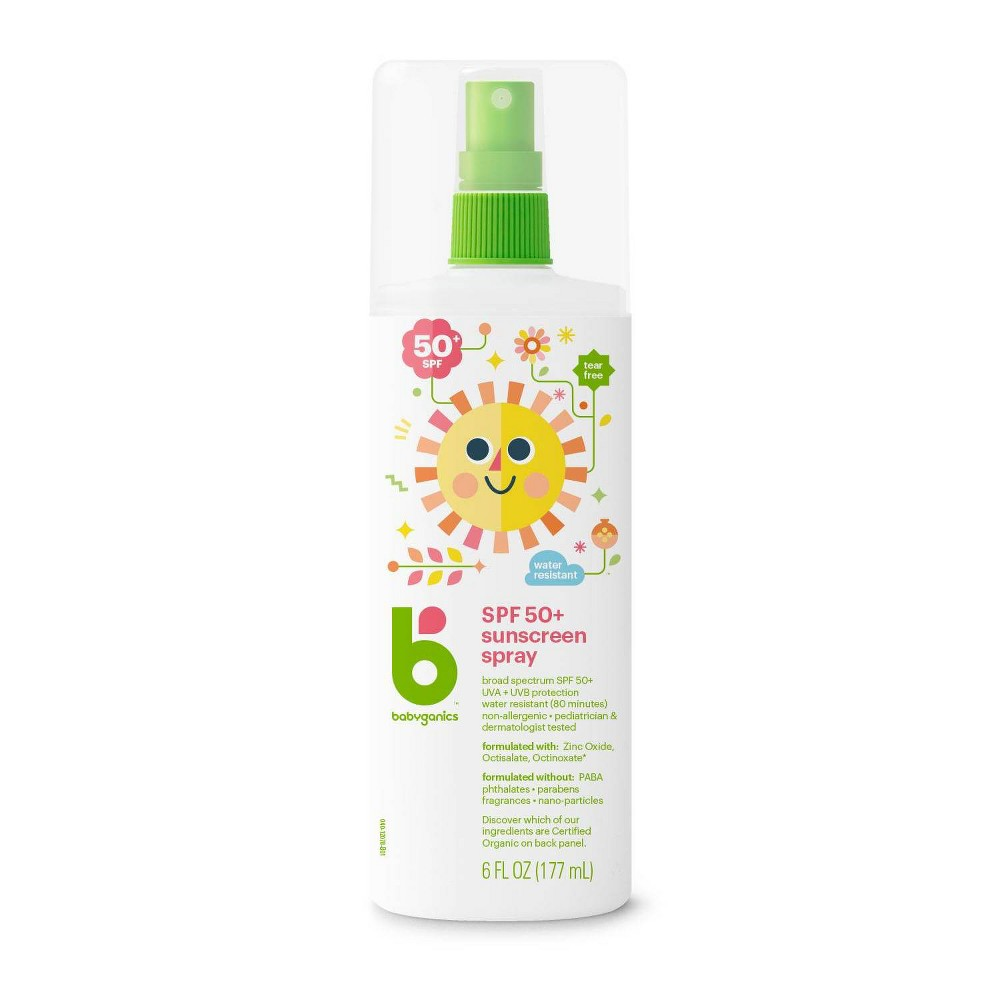 Babyganics Mineral Based Baby Sunscreen Spray Spf 50 6 Fl Oz