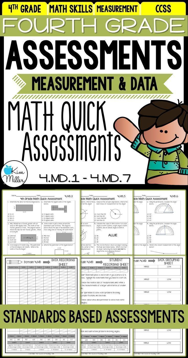 Math Test Prep Review - 4th Grade Assessments: Measurement and Data ...
