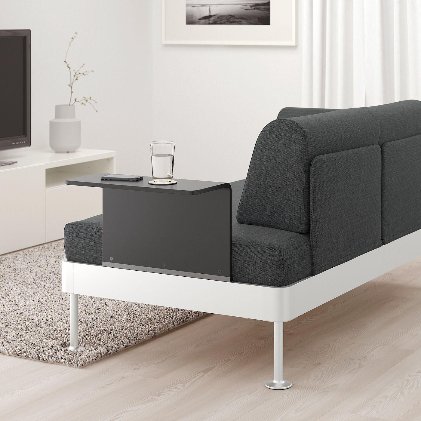 Delaktig 2er Sofa Mit Ablage Hillared Anthrazit Ikea Osterreich In 2020 2er Sofa Kleines Sofa Und Sofa