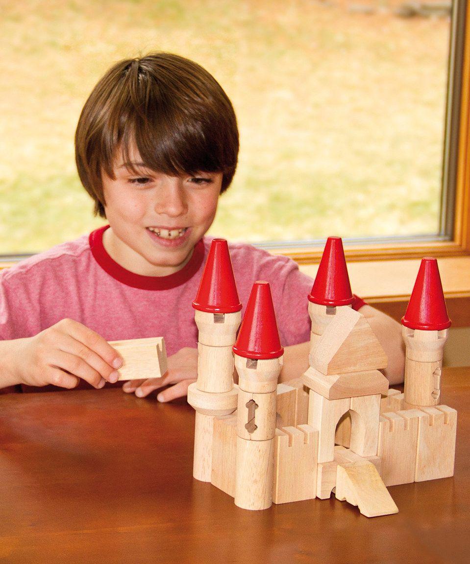 Loving this Guidecraft Castle Blocks Set on #zulily! #zulilyfinds