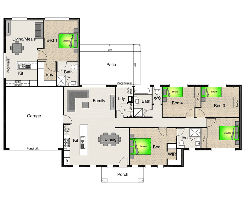 House with granny flat google search house plans for Floor plans granny flats