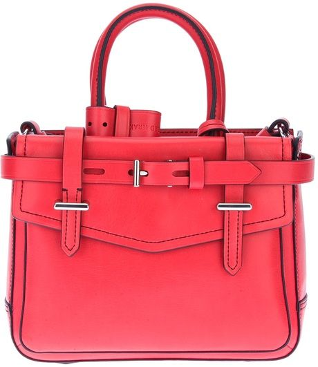 2994b4d96161 Women s Red Buckle Strap Tote