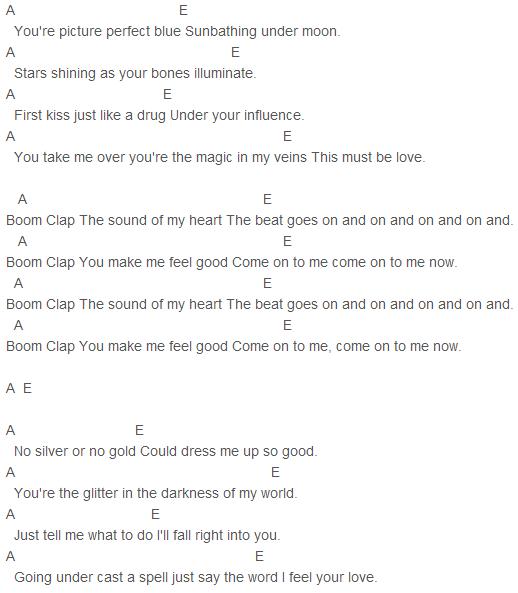 Charli Xcx Boom Clap Chords Guitar Chords Pinterest Boom