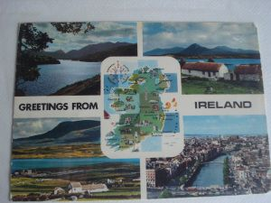 www.over40andamumtoone.wordpress.com The first postcard - a map postcard collection started in 1980