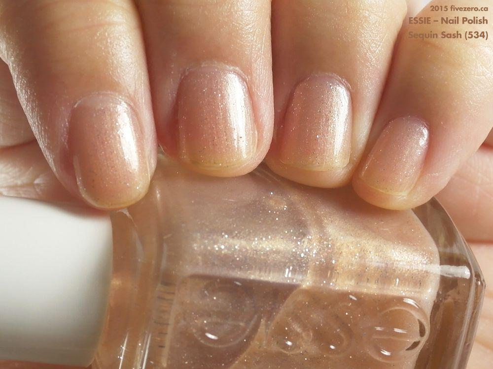Essie Nail Polish in Sequin Sash (swatch by fivezero.ca) [sheer ...