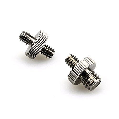 1//4 Male to 3//8 Male Double Head Threaded Convert Screw Adapter for Camera