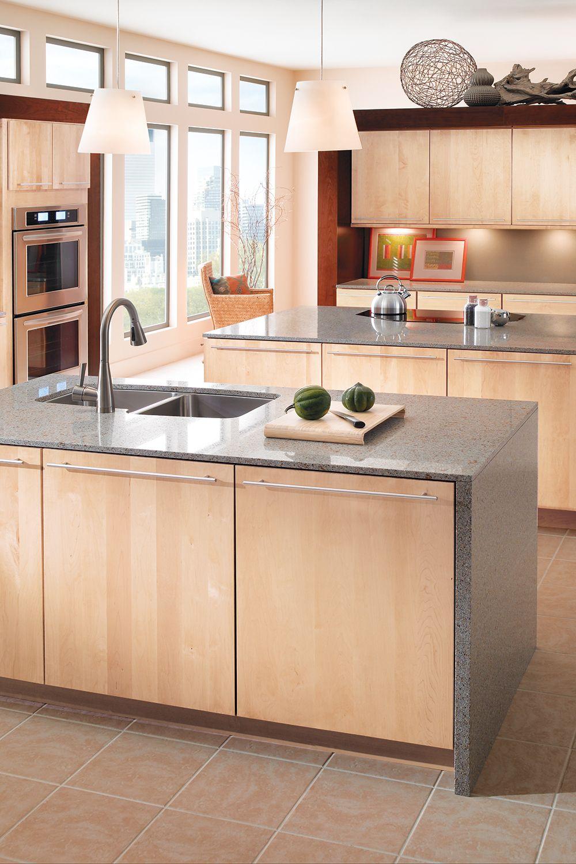 Blonde Bombshell   Modern maple kitchen, Maple kitchen cabinets ...