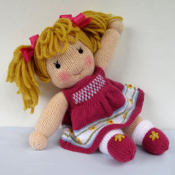 e02a5944f7289f Jasmine and Violet doll knitting pattern INSTANT por dollytime