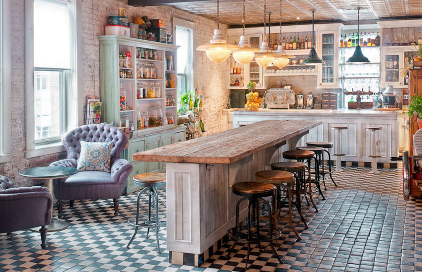 SOHO HOUSE NYC Pantry Bar Design by VICKY CHARLES
