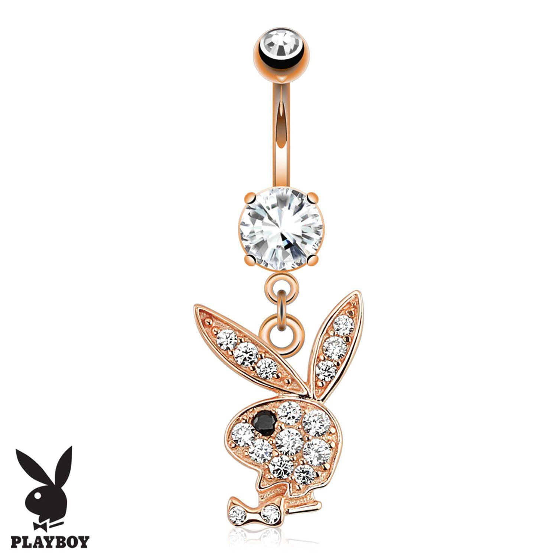 Playboy Belly Button Ring Navel Dangle Barbell Pav