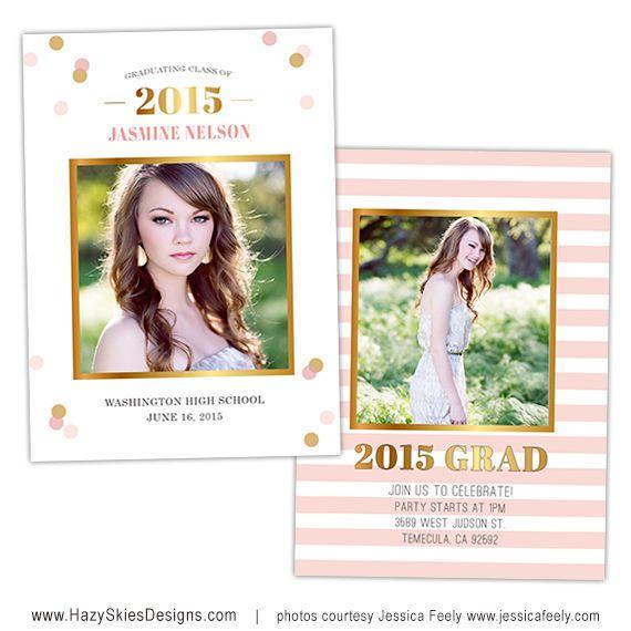 Senior Graduation Photo Card Template For Photographers Senior Templa Graduation Announcement Cards Graduation Card Templates Senior Graduation Announcements