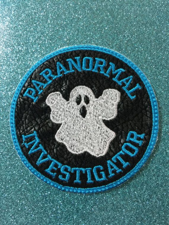 Paranormal Investigator Patch Faux Leather By Atotallytwistedshop