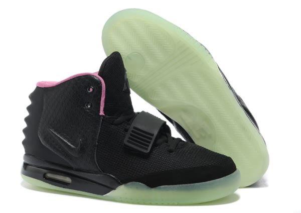 buy online d6cf4 333fb ... Nike Air Yeezy 2 Sneaker Black Pink Men s Shoes ...